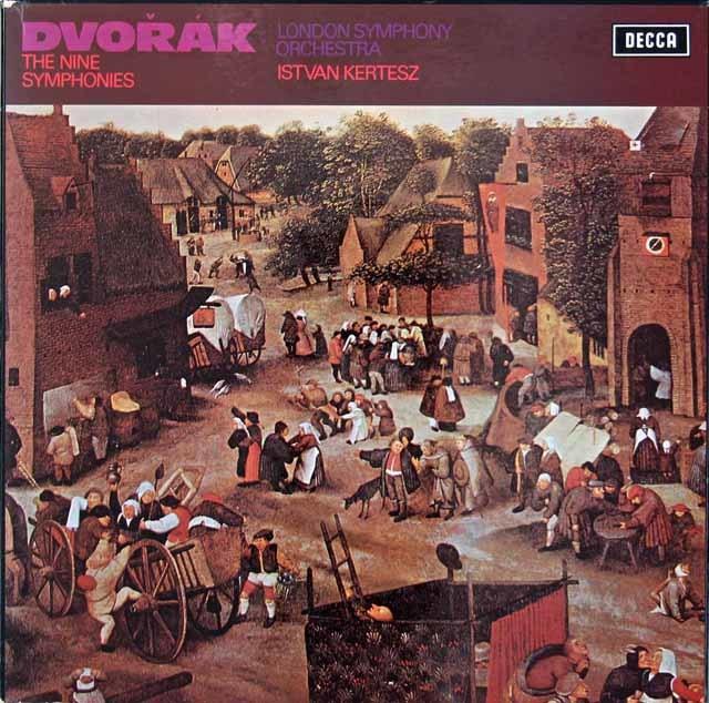 ケルテスのドヴォルザーク/交響曲全集 英DECCA 3034 LP レコード