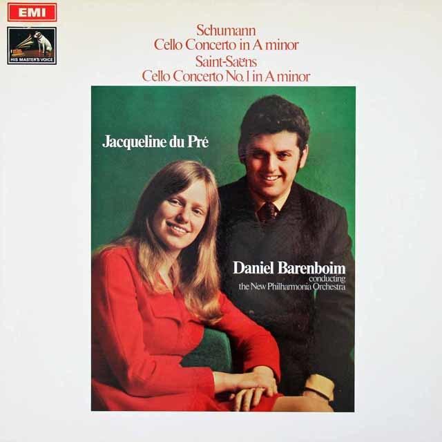 デュ・プレ&バレンボイムのシューマン/チェロ協奏曲ほか 英EMI 3019 LP レコード