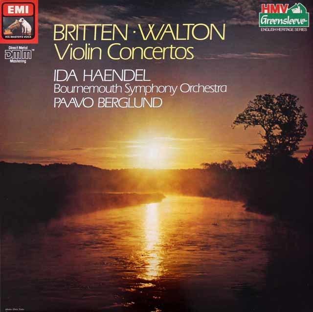イダ・ヘンデル&ベルグルンドのブリテンー&ウォルトン/ヴァイオリン協奏曲集 英EMI 3019 LP レコード