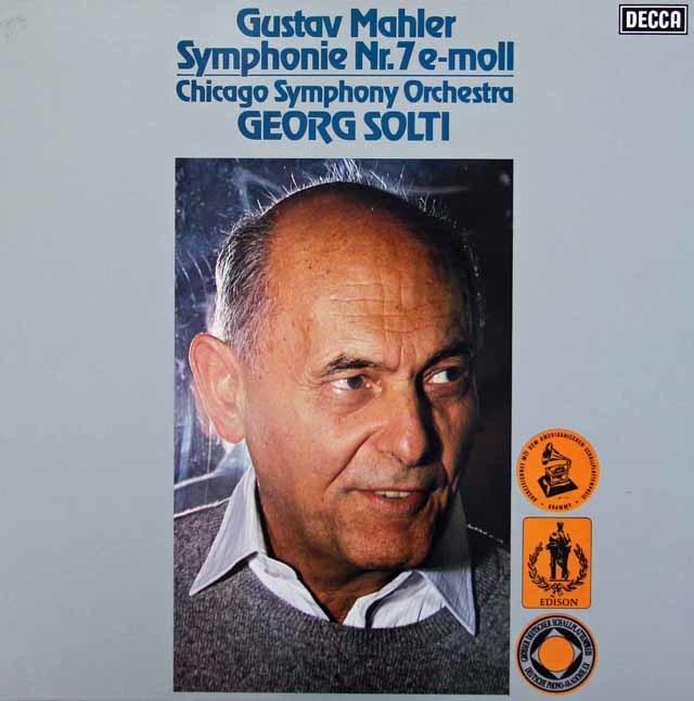 ショルティのマーラー/交響曲第7番「夜の歌」 独DECCA 3034 LP レコード