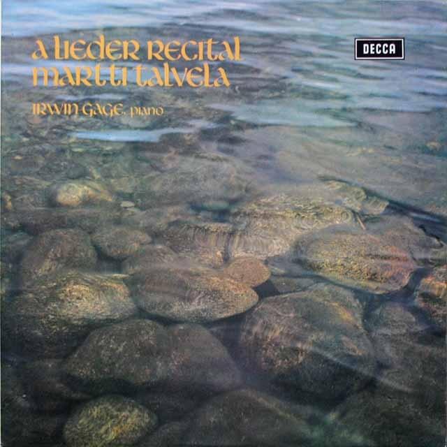 【オリジナル盤】 タルヴェラ、ゲイジのシューマン/「12の詩」ほか 英DECCA 3332 LP レコード