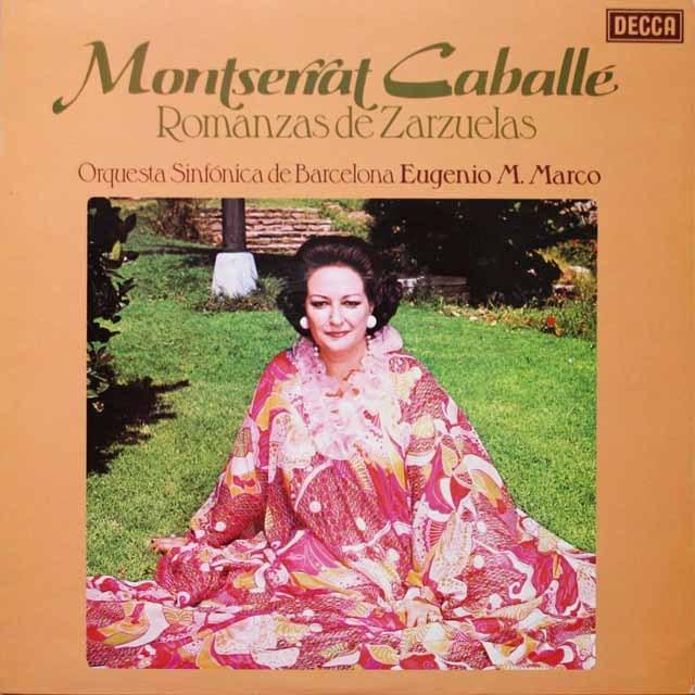 【オリジナル盤】 カバリエのサルスエラ歌曲集 英DECCA 3332 LP レコード
