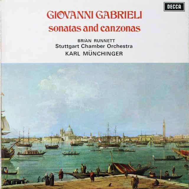ミュンヒンガーのガブリエリ/「ソナタとカンツォーナ」 英DECCA 2616 LP レコード