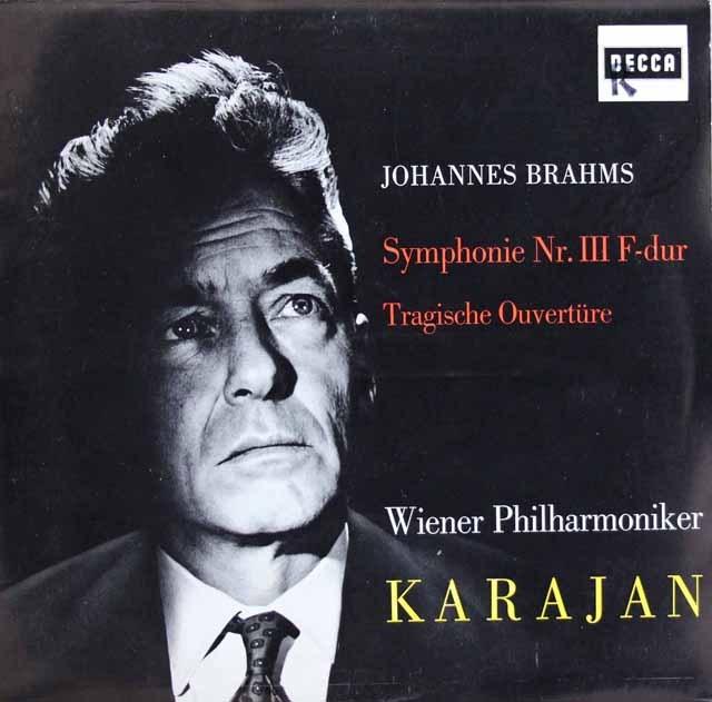 カラヤンのブラームス/交響曲第3番&悲劇的序曲 独DECCA 2912 LP レコード