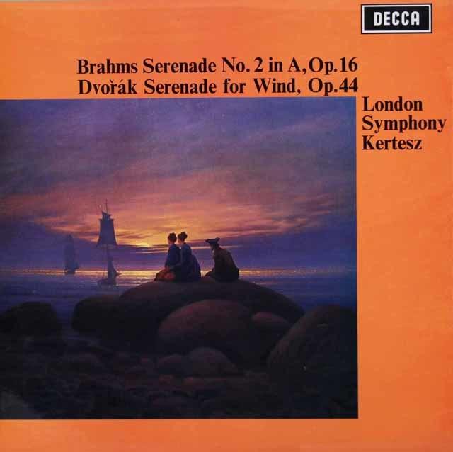 ケルテスのブラームス/セレナード第2番ほか 英DECCA 3036 LP レコード