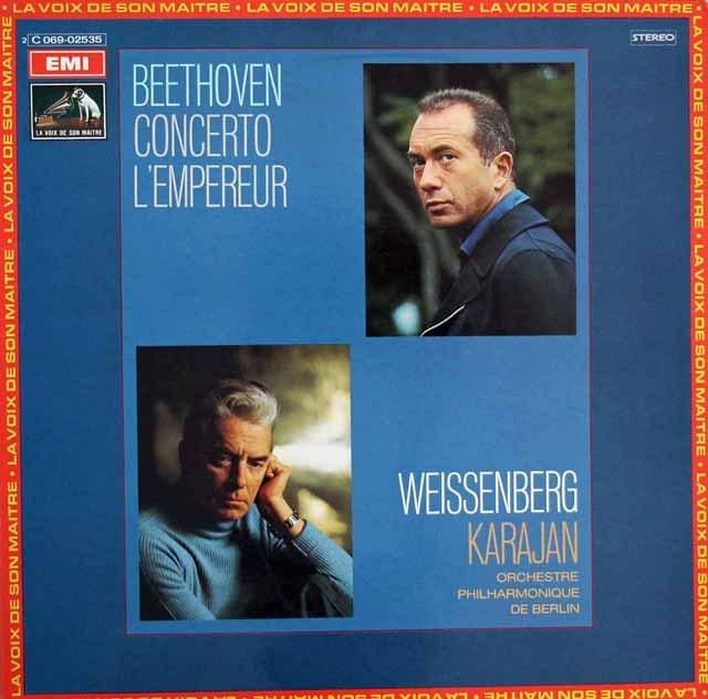 ワイセンベルク&カラヤンのベートーヴェン/ピアノ協奏曲「皇帝」  仏EMI(VSM) 2912 LP レコード