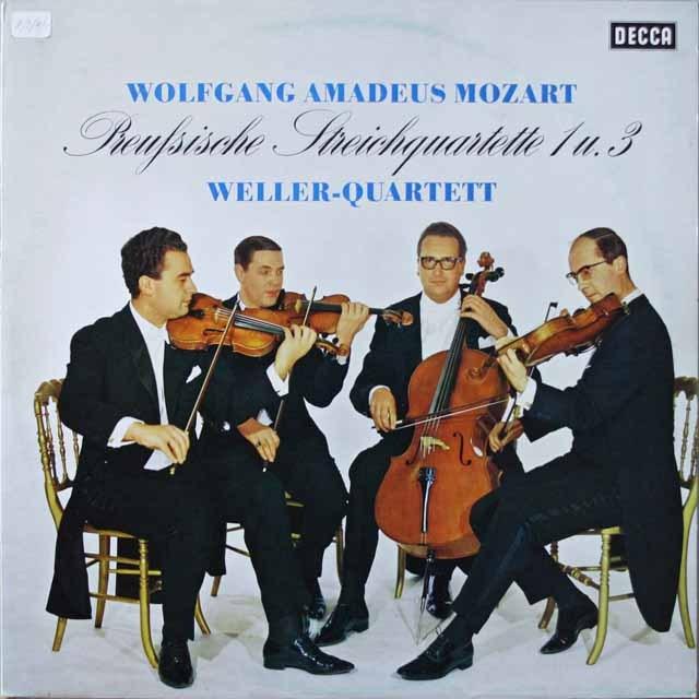 ウェラー四重奏団のモーツァルト/弦楽四重奏曲第21&23番  独DECCA  2633 LP レコード