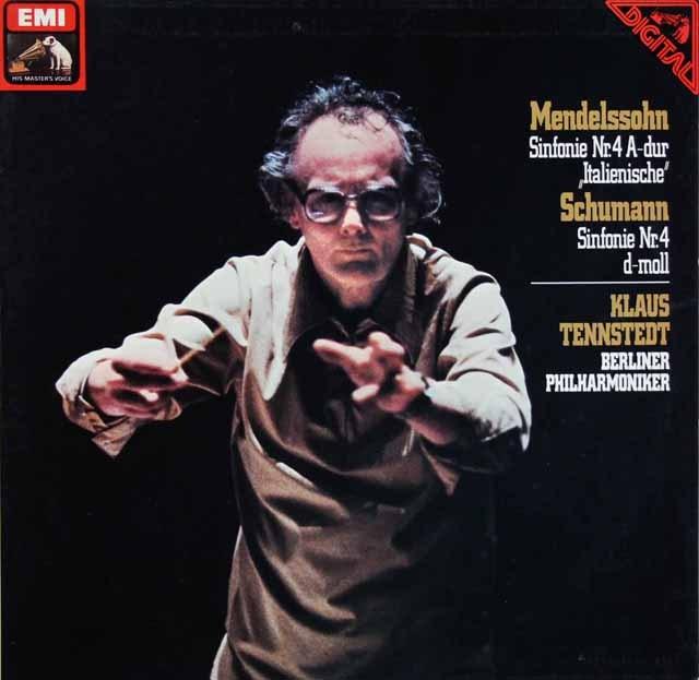 テンシュテットのメンデルスゾーン&シューマン/交響曲第4番 独EMI 3284 LP レコード