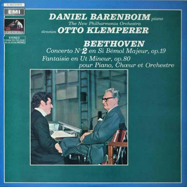 バレンボイム&クレンペラーのベートーヴェン/ピアノ協奏曲第2番  仏EMI(VSM)  2633 LP レコード