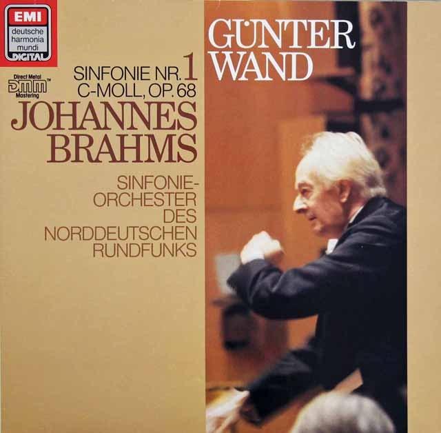 ヴァントのブラームス/交響曲第1番 独EMI 2912 LP レコード