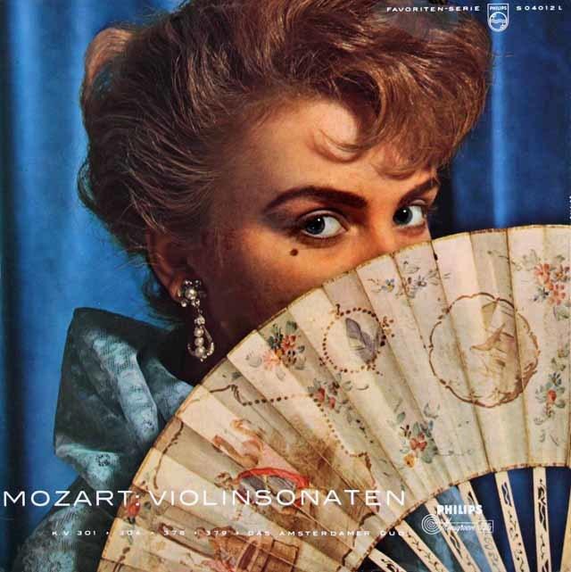 アムステルダム・デュオ(クリィン&ヘクシュ)のモーツァルト/ヴァイオリンソナタ集 独PHILIPS 3036 LP レコード