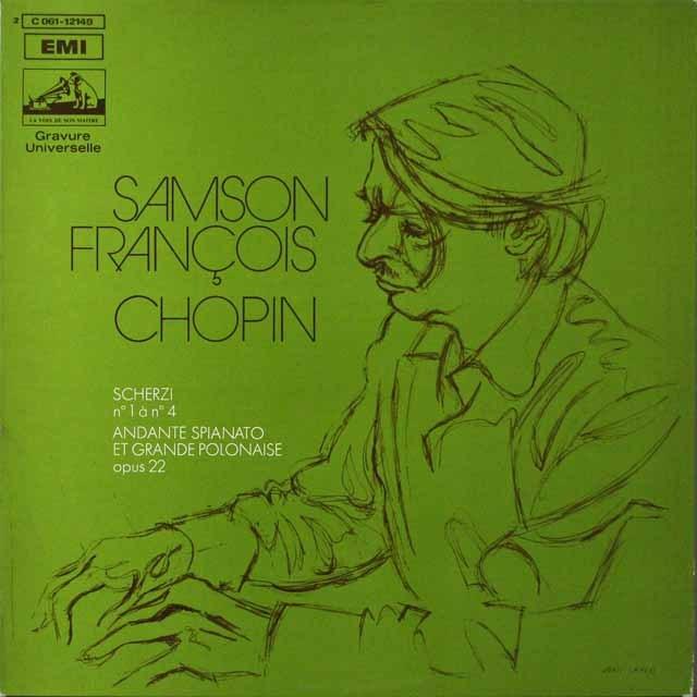 フランソワのショパン/スケルツォ第1~4番  仏EMI(VSM)  2633 LP レコード