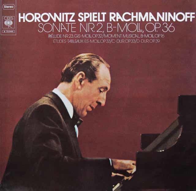 ホロヴィッツのラフマニノフ/ピアノソナタ第2番ほか 独CBS 3036 LP レコード