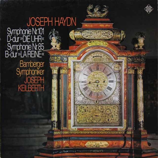 カイルベルトのハイドン/交響曲第101番「時計」&第85番「王妃」 独TELEFUNKEN 3222 LP レコード