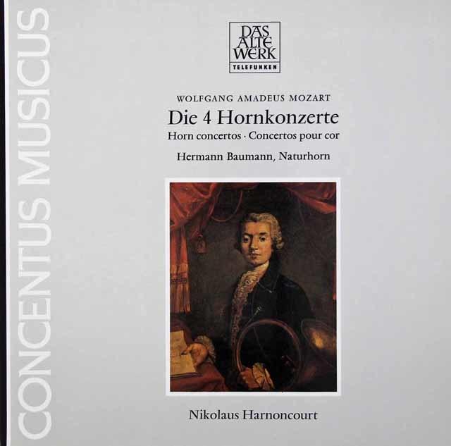 バウマン&アーノンクールのモーツァルト/ホルン協奏曲第1~4番 独TELEFUNKEN 3036 LP レコード