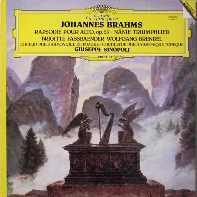 シノーポリのブラームス/オーケストラ付き合唱曲  仏DGG  2632 LP レコード