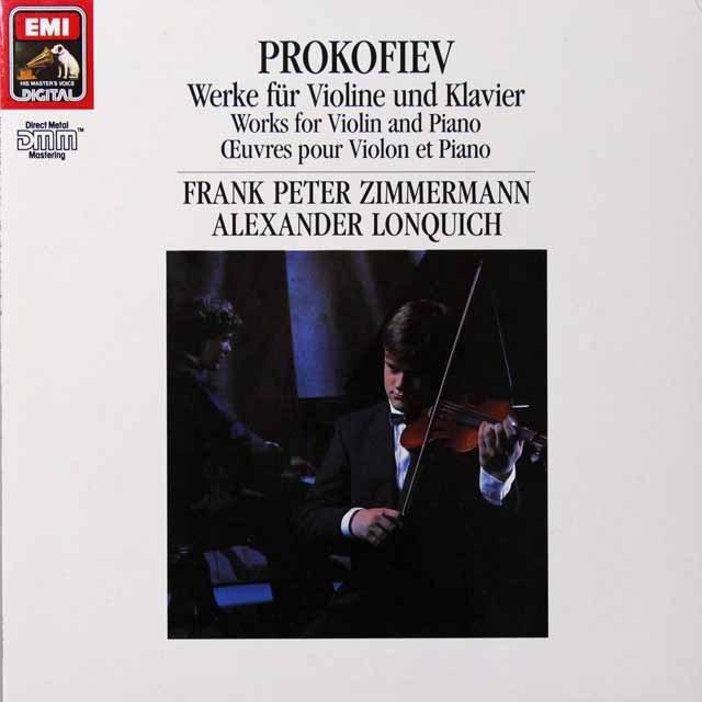 ツィンマーマンのプロコフィエフ/ヴァイオリンとピアノのための作品集 独EMI 3222 LP レコード