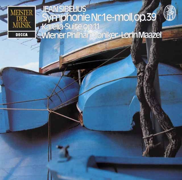 マゼールのシベリウス/交響曲第1番 独DECCA 3282 LP レコード