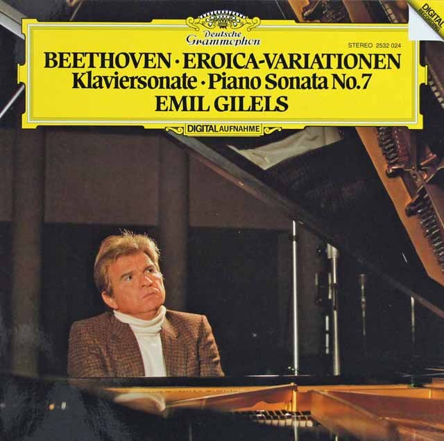 ギレリスのベートーヴェン/ピアノソナタ第7番&エロイカ変奏曲 独DGG 3284 LP レコード