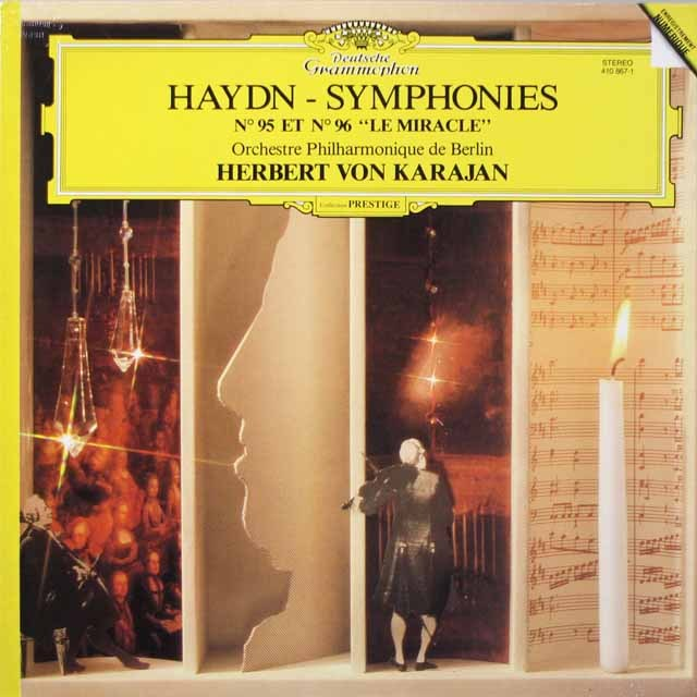カラヤンのハイドン/交響曲第95&96番「奇蹟」 仏DGG 2617 LP レコード