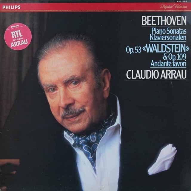 アラウのベートーヴェン/ピアノソナタ第21番「ヴァルトシュタイン」ほか 蘭PHILIPS 3019 LP レコード