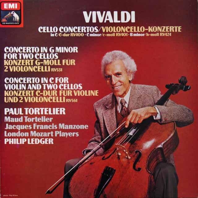 トルトゥリエのヴィヴァルディ/チェロ協奏曲集 英EMI   2704 LP レコード