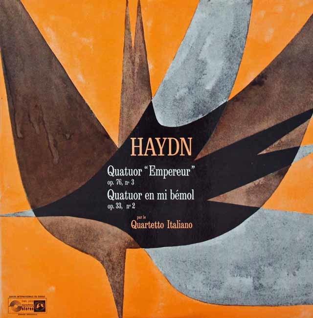 イタリア四重奏団のハイドン/弦楽四重奏曲第77番「皇帝」ほか 英CH 3036 LP レコード