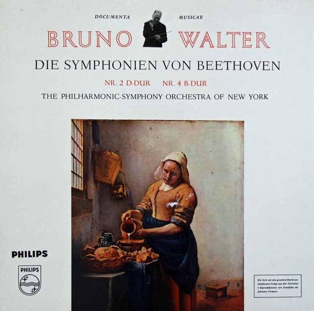ワルターのベートーヴェン/交響曲第2&4番 蘭PHILIPS 3282 LP レコード