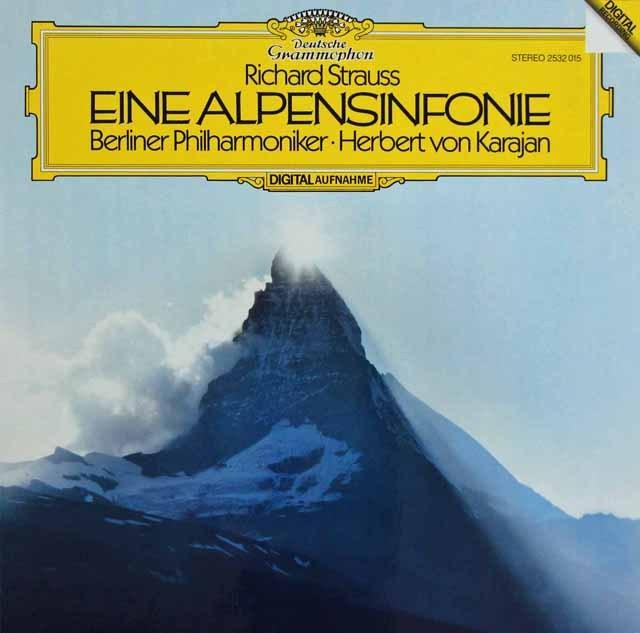 カラヤンのR.シュトラウス/アルプス交響曲 独DGG 2912 LP レコード