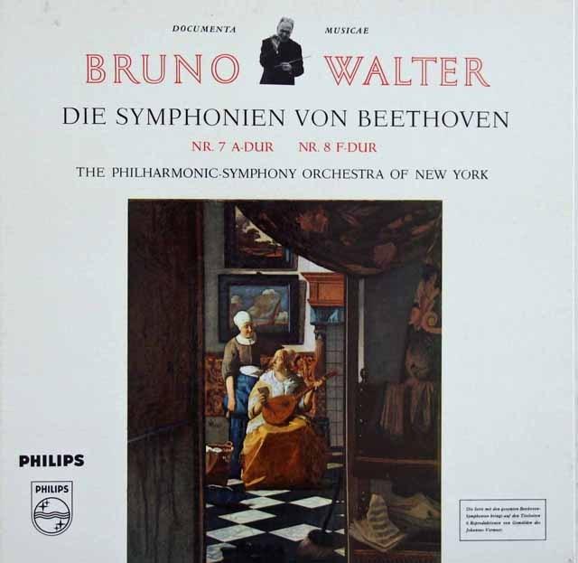 ワルターのベートーヴェン/交響曲第7&8番 独PHILIPS 2920 LP レコード