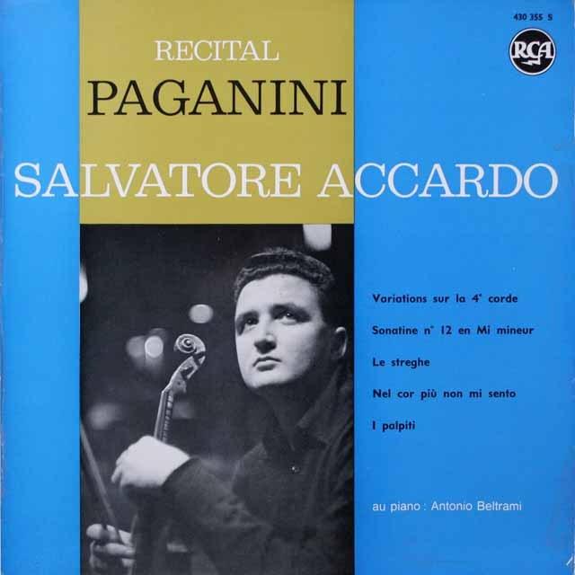 アッカルドのパガニーニ/ヴァイオリン曲集 仏RCA モノラル 2617 LP レコード
