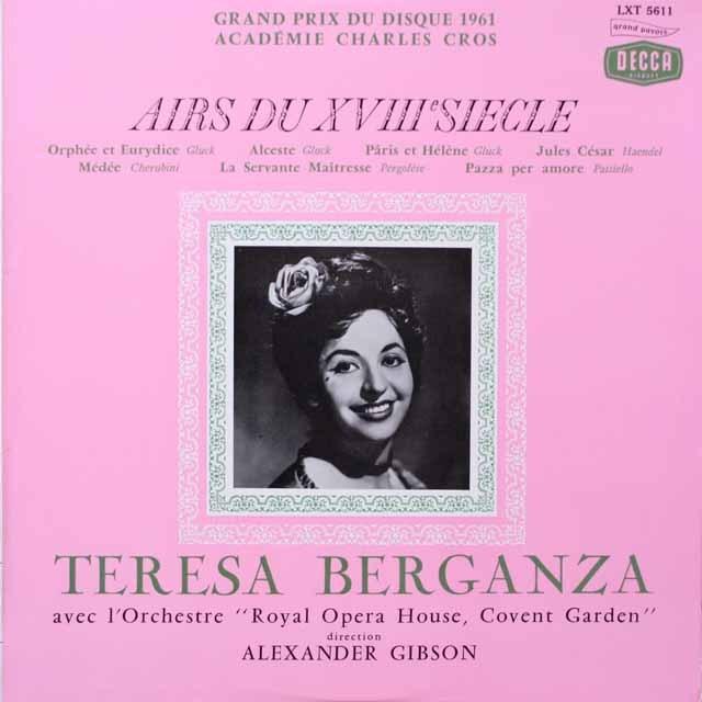 ベルガンサの「18世紀のアリア集」 仏DECCA モノラル 2617 LP レコード