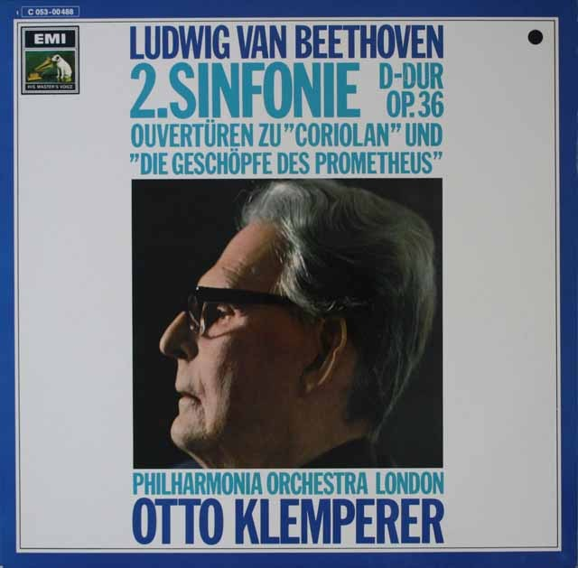 クレンペラーのベートーヴェン/交響曲第2番ほか 独EMI 3227 LP レコード