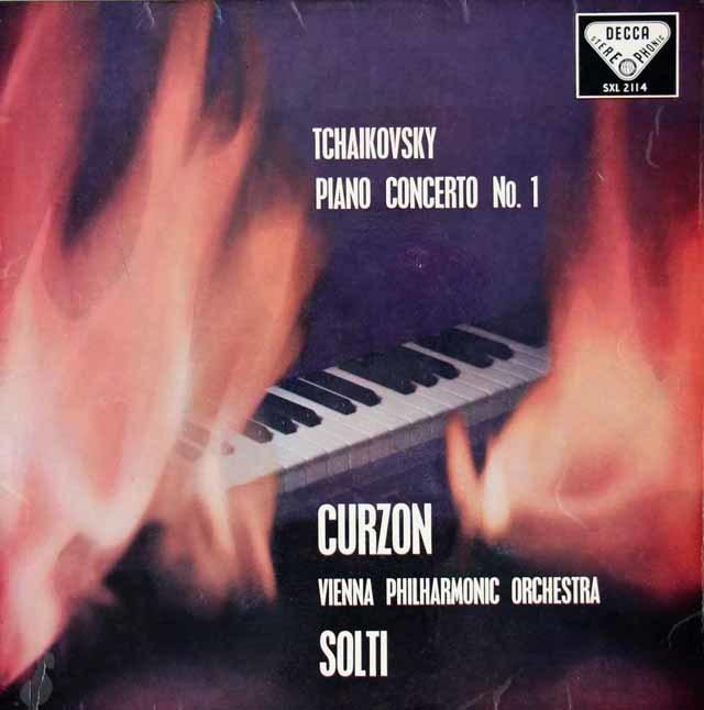 カーゾン&ショルティのチャイコフスキー/ピアノ協奏曲第1番 英DECCA 3023 LP レコード