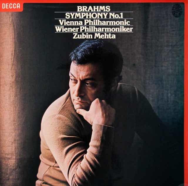 【オリジナル盤】 メータのブラームス/交響曲第1番 英DECCA 3023 LP レコード