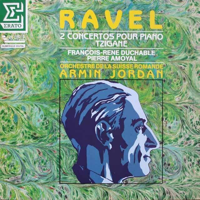 デュシャーブル、ジョルダンのラヴェル/左手のためのピアノ協奏曲ほか 仏ERATO 3333 LP レコード