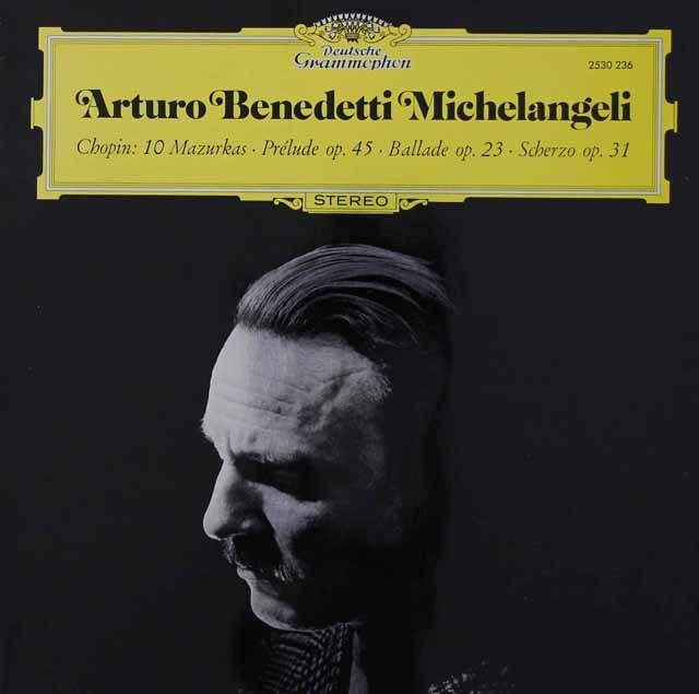 ミケランジェリのショパン/10のマズルカ、前奏曲第25番ほか 独DGG 3036 LP レコード