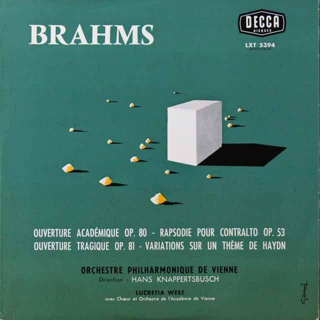 クナッパーツブッシュのブラームス/ハイドンの主題による変奏曲ほか 仏DECCA 2701 LP レコード