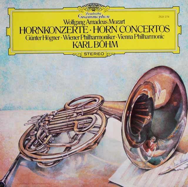 ヘーグナー&ベームのモーツァルト/ホルン協奏曲全曲 独DGG 3033 LP レコード
