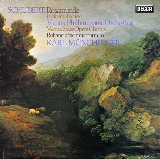 【オリジナル盤】 ミュンヒンガーのシューベルト/「ロザムンデ」全曲 英DECCA 3023 LP レコード