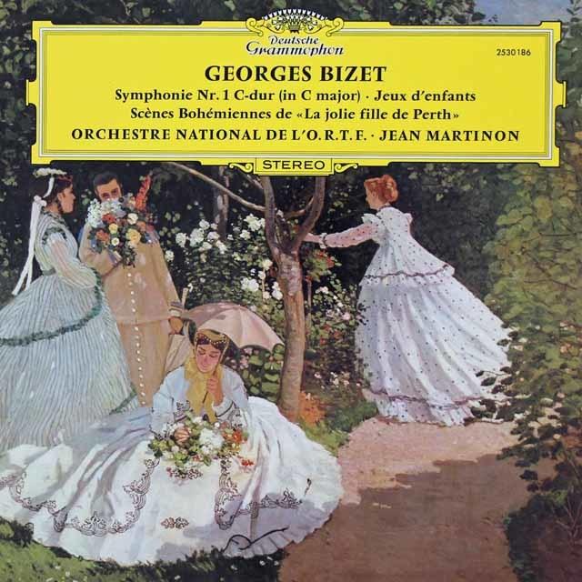 マルティノンのビゼー/交響曲第1番ほか 独DGG 3036 LP レコード