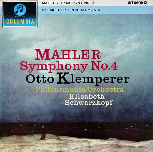 【オリジナル盤】 シュヴァルツコップ&クレンペラーのマーラー/交響曲第4番 英Columbia 3023 LP レコード