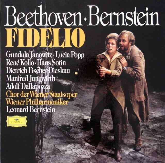 バーンスタインのベートーヴェン/歌劇「フィデリオ」全曲 独DGG 3036 LP レコード