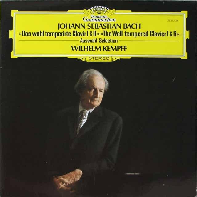 ケンプのバッハ/平均律クラヴィーア曲集第1&2巻より  独DGG  2632 LP レコード