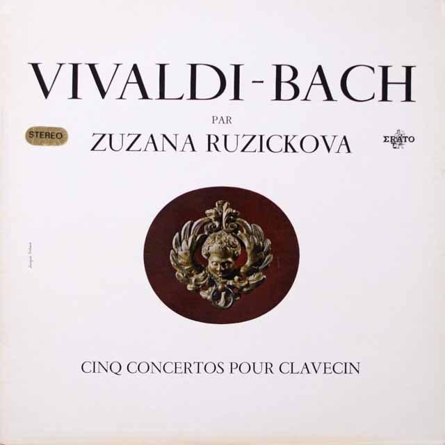 ルージチコヴァのバッハ/チェンバロ協奏曲集 仏ERATO 3333 LP レコード