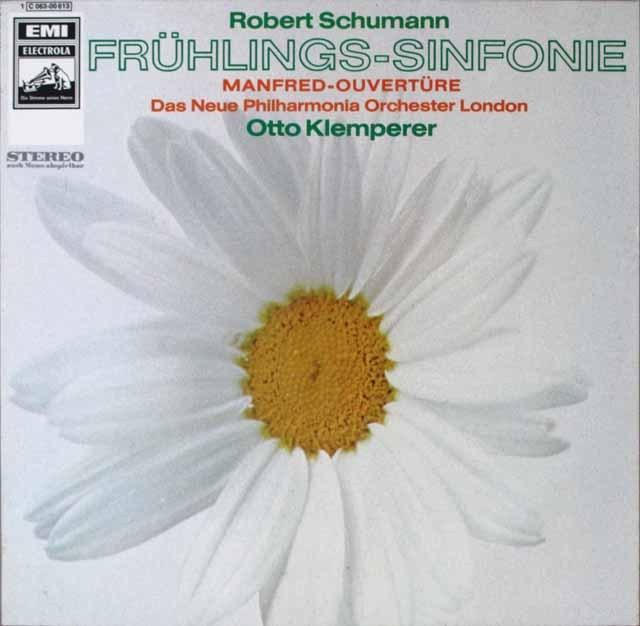 クレンペラーのシューマン/交響曲第1番《春》ほか 独EMI 3227 LP レコード