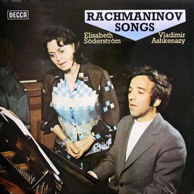 【オリジナル盤】 ゼーダーシュトレーム&アシュケナージのラフマニノフ/歌曲集 英DECCA 3033 LP レコード