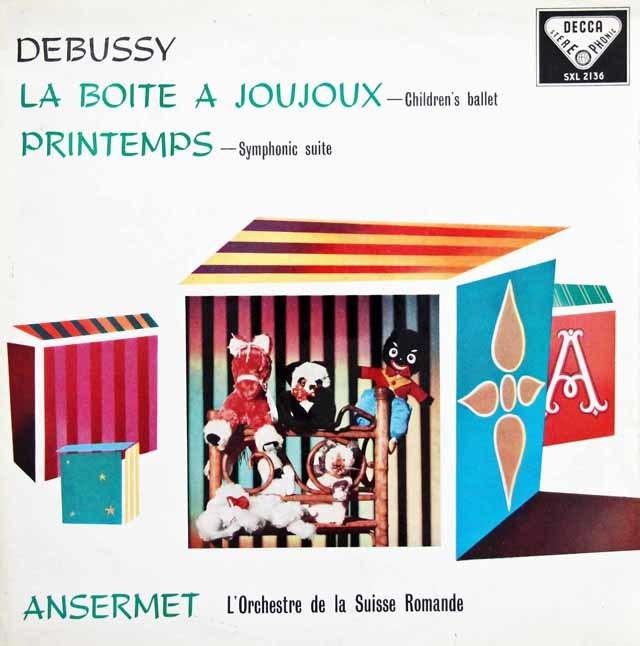 【オリジナル盤】 アンセルメのドビュッシー/「おもちゃ箱」ほか 英DECCA 3033 LP レコード