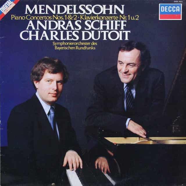 シフ&デュトワのメンデルスゾーン/ピアノ協奏曲第1&2番 蘭DECCA 3033 LP レコード