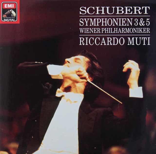 ムーティのシューベルト/交響曲第3&5番 独EMI 3036 LP レコード